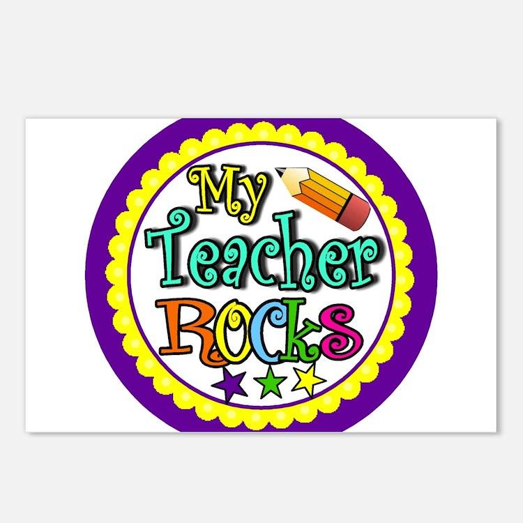 My Teacher Rocks Postcards (Package of 8)