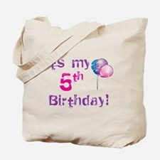 It's My 5th Birthday Tote Bag