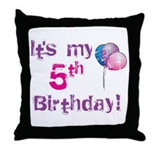 It's My 5th Birthday Throw Pillow