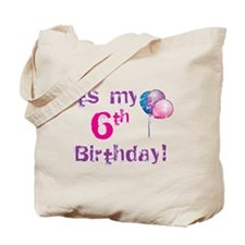 It's My 6th Birthday Tote Bag