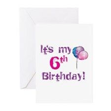 It's My 6th Birthday Greeting Cards (Pk of 10)