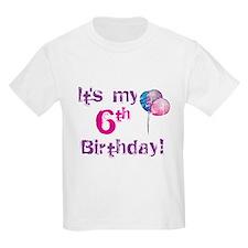 It's My 6th Birthday T-Shirt