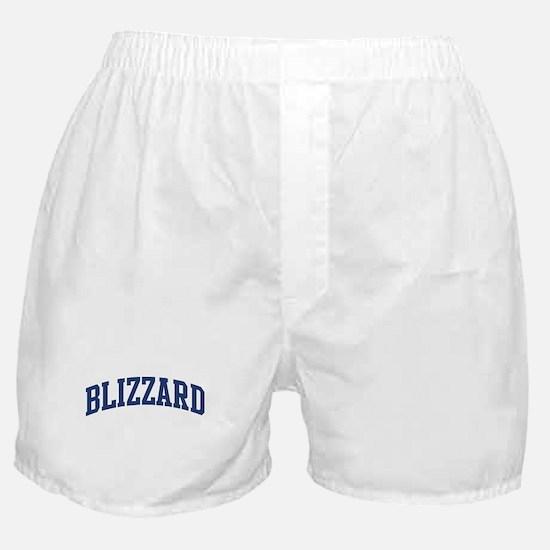 BLIZZARD design (blue) Boxer Shorts