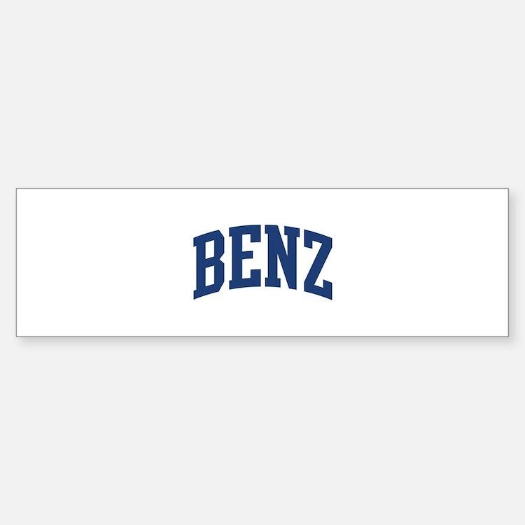 BENZ design (blue) Bumper Bumper Bumper Sticker