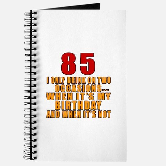 85 Birthday Designs Journal