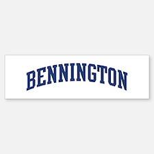 BENNINGTON design (blue) Bumper Bumper Bumper Sticker