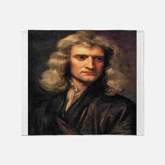 Isaac Newton Throw Blanket
