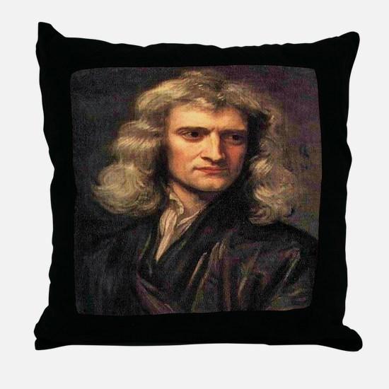Isaac Newton Throw Pillow