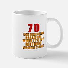70 Birthday Designs Mug