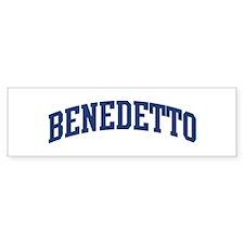 BENEDETTO design (blue) Bumper Bumper Sticker