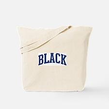 BLACK design (blue) Tote Bag