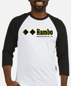 Crested Butte, Rambo Double Black Baseball Jersey