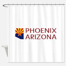 Arizona: Phoenix (State Shape & Fla Shower Curtain