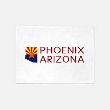 Arizona: Phoenix (State Shape & Fla 5'x7'Area Rug