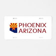 Arizona: Phoenix (State Sha Aluminum License Plate