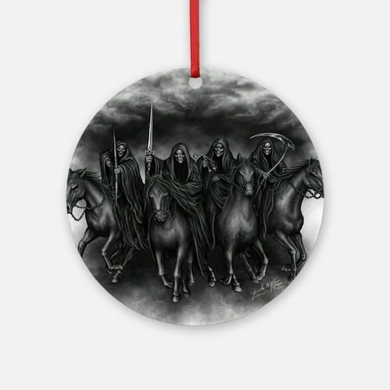death crew Round Ornament