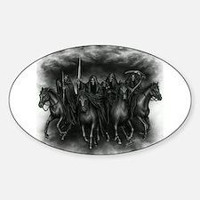 death crew Sticker (Oval)