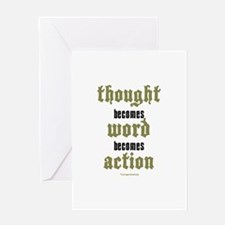 Thought, Word, Action Greeting Card