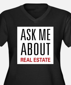 Ask Me Real Estate Plus Size T-Shirt