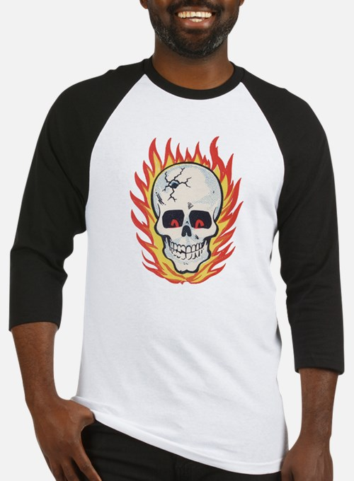Impko Hot Head flaming skull Baseball Jersey