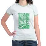 MythMeet green Jr. Ringer T-shirt