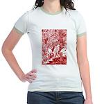 MythMeet red sepia Jr. Ringer T-shirt