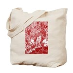 MythMeet red sepia Tote Bag