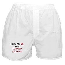 Kiss Me I'm a COMPANY SECRETARY Boxer Shorts