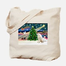 Xmas Magic & Kuvasz Tote Bag