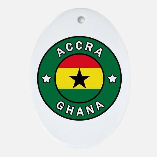 Cute Accra Oval Ornament