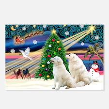 Xmas Magic & Kuvasz Postcards (Package of 8)