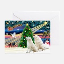 Xmas Magic & Kuvasz Greeting Cards (Pk of 20)