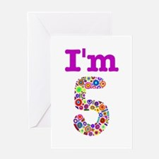 Colorful I'm5 Greeting Card