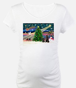 XmasMagic/2 Poodles (blk) Shirt
