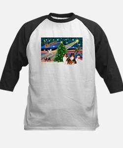 XmasMagic/2 Shelties(p3) Kids Baseball Jersey