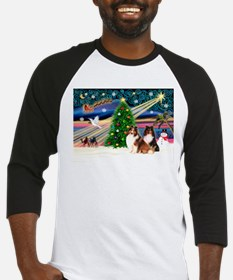 XmasMagic/2 Shelties(p3) Baseball Jersey