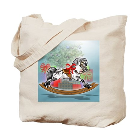 Rocking Horse With Gifts Tote Bag
