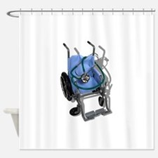 WheelchairStethoscope073110.png Shower Curtain