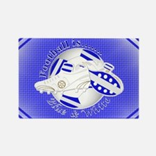Blue and White Football Soccer Magnets