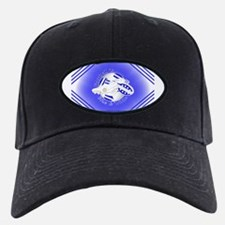 Blue and White Football Soccer Baseball Hat