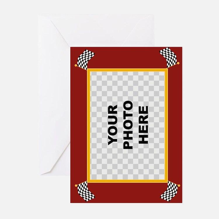 Custom Racing Frame Greeting Cards