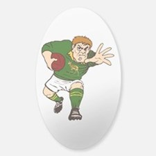 Springboks Rugby Player Sticker (Oval)