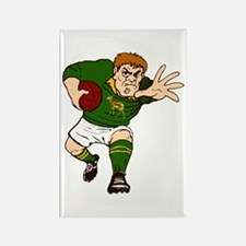 Springboks Rugby Player Rectangle Magnet