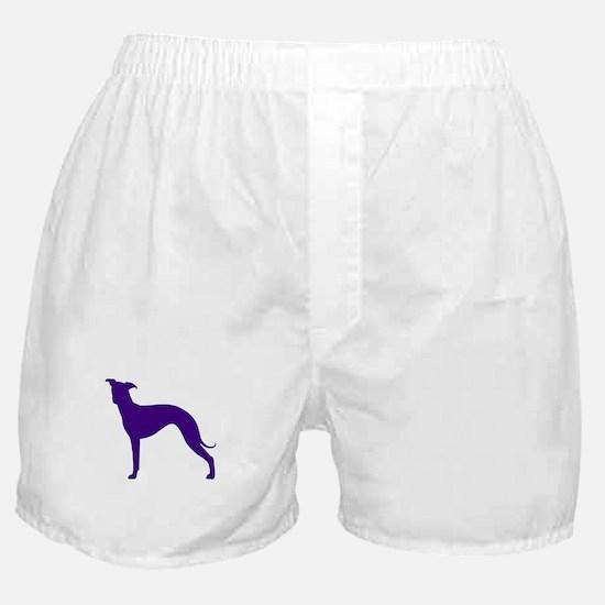 Greyhound Two Purple 1 Boxer Shorts