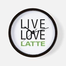 Live Love Latte Wall Clock