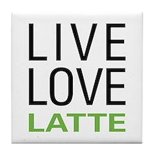 Live Love Latte Tile Coaster