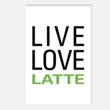 Live Love Latte Postcards (Package of 8)