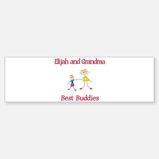 Elijah & Grandma - Buddies Bumper Bumper Bumper Sticker