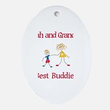 Elijah & Grandma - Buddies Oval Ornament