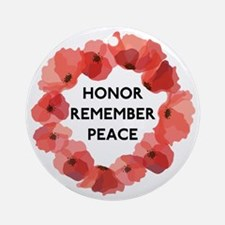 Remembrance Day Round Ornament